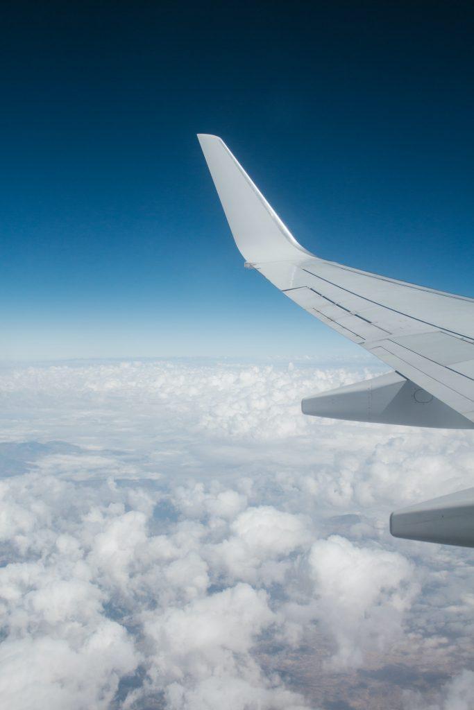 vista desde la ventana de un avion